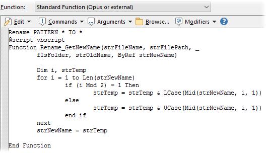 Embedding Rename Scripts
